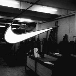 enseigne Gambetta Paris x Nike - Enseigne led géante