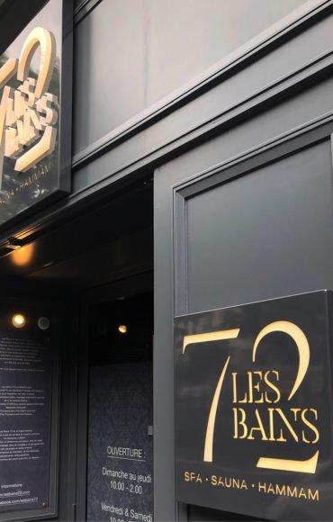 Enseigne Gambetta Paris x LEs Bains 72 - Enseigne LED