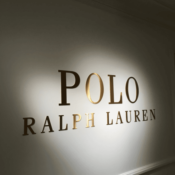Enseigne Gambetta Paris x Ralph Lauren - Signalétique Bureaux