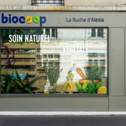 Enseigne Gambetta Paris x Biocoop Alesia - Vitrophanie