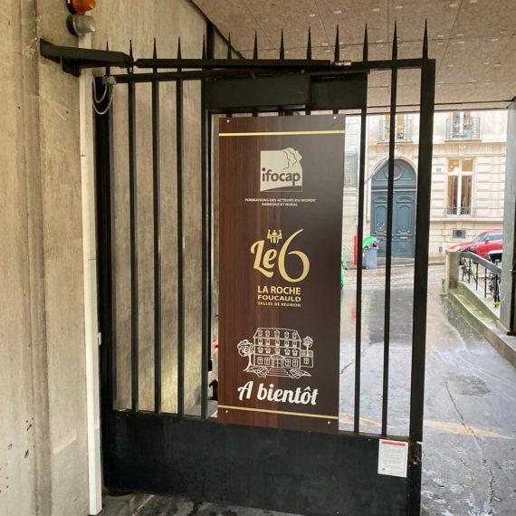 Enseigne Gambetta Paris - Plaque signalétique aluminium
