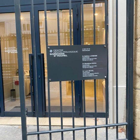 Enseigne Gambetta Paris x Centre dentaire - Plaque professionnelle