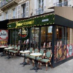 FERMIER GOURMET x ENSEIGNE GAMBETTA PARIS - Neon/ Mur Végétal / Adhésif