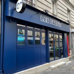 Enseigne Gambetta Paris x Les cocos - Enseigne drapeau / neon led / lettrages PVC