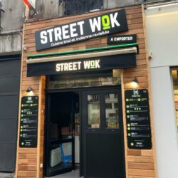 Enseigne Gambetta Paris x Street Wok - Enseigne bandeau / Store / Lambrequin / Plaque