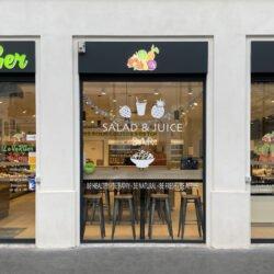 Le verger de cherry x Enseigne Gambetta Paris - enseigne bandeau / adhésif